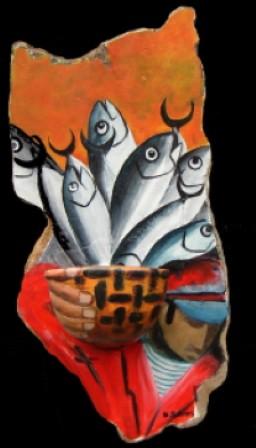 Panier de poissons 50x30